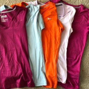 5 Nike V neck shirts!